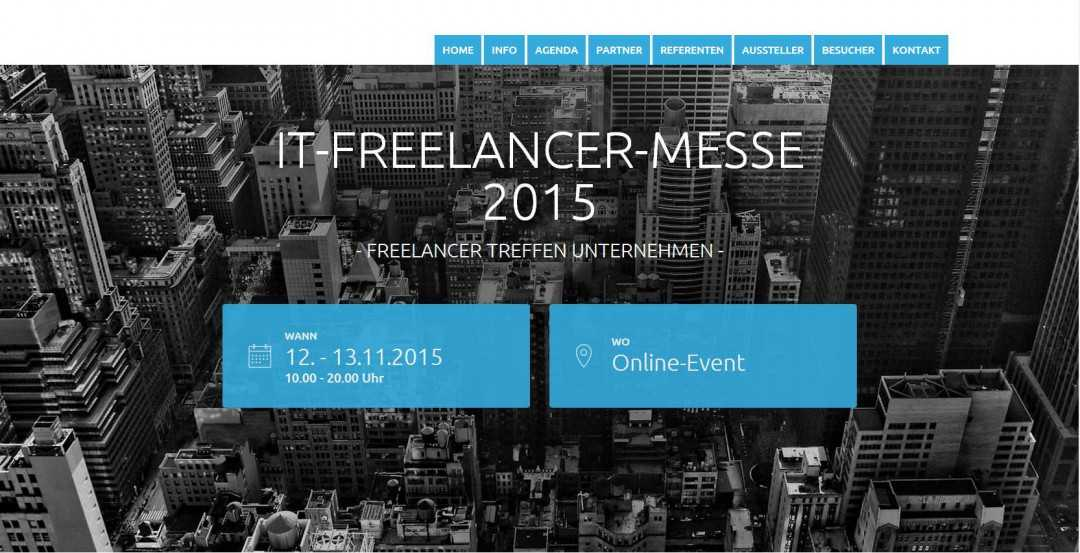 Webseiten-Erstellung: IT Freelancer Messe 2015