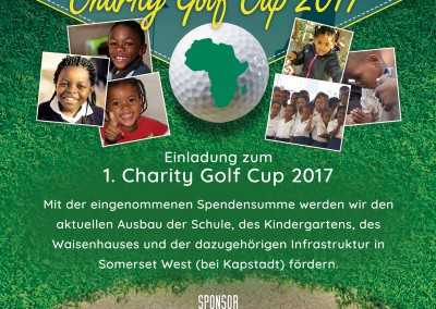 Flyer: Charity Golf Turnier für Kinder in Afrika